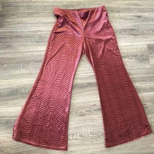 NWOT free People 70s velvet wide bottom pants L